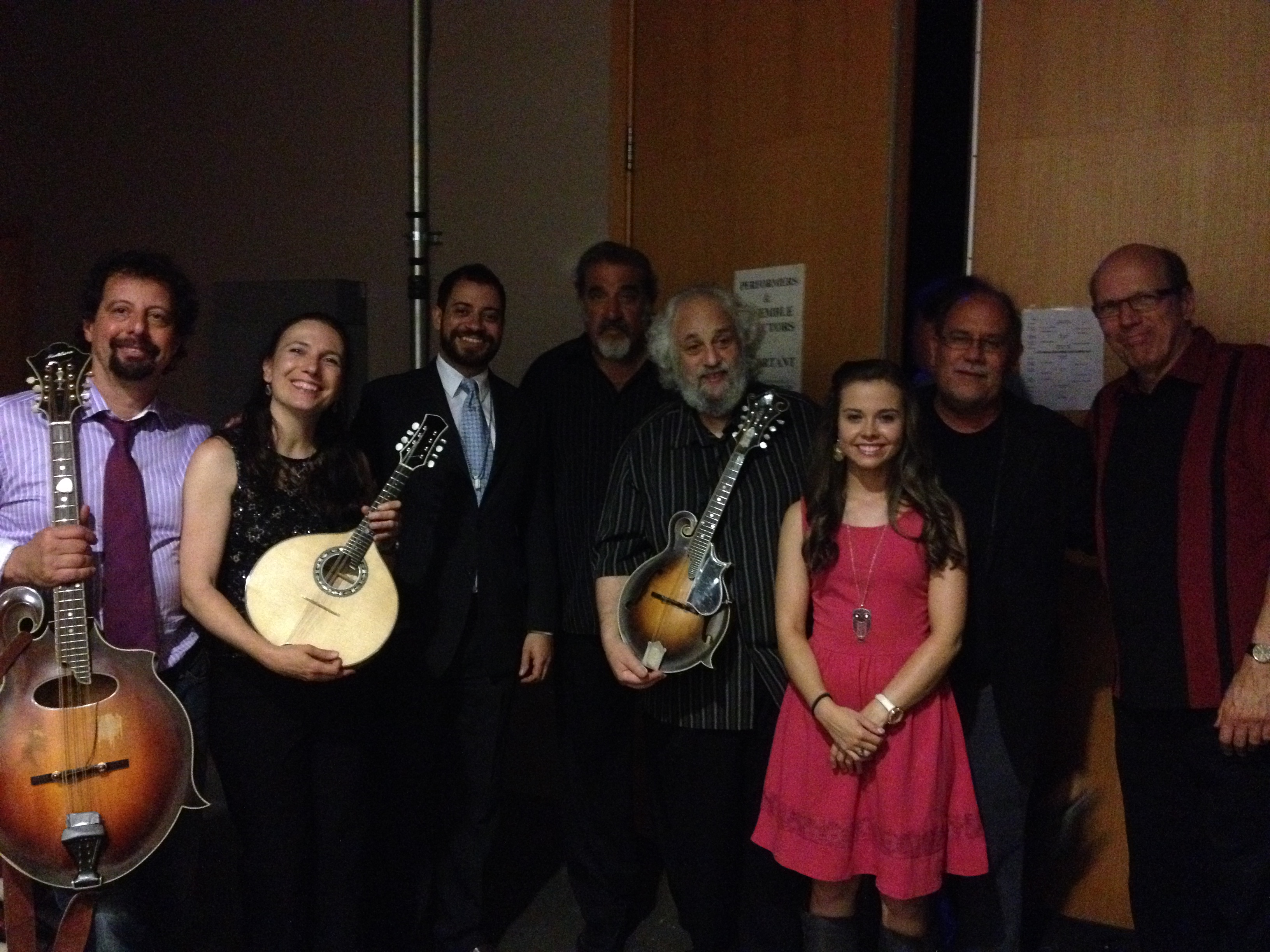 Com Mike Marshall, Caterina Lichtenberg, Rich DelGrosso, David Grisman, Emory Lester, Don Stiernberg e Sierra Hull