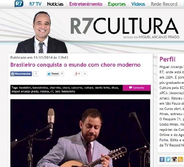 Brasileiro conquista o mundo com Choro moderno - Portal R7