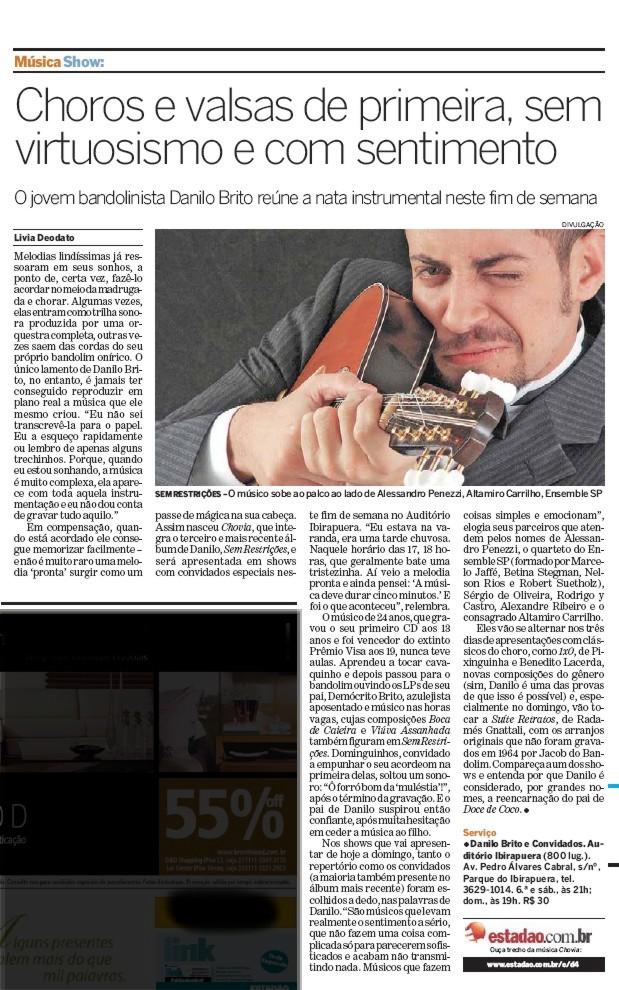 Top quality choros and waltzes - O Estado de São Paulo